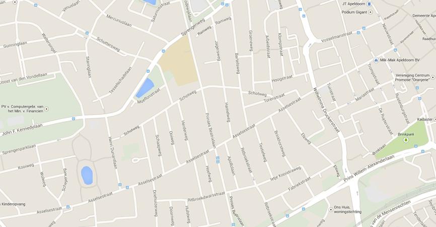 Kaart van de Asselsestraat